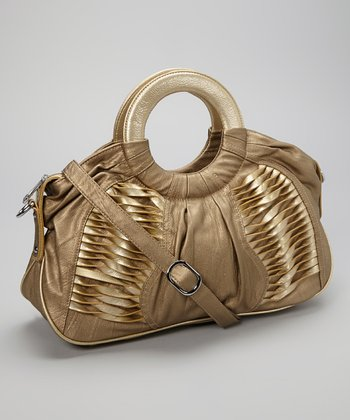 Bronze Textured Satchel