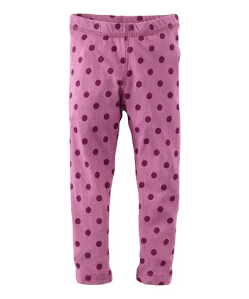 Plumberry Design Dot Skinny Leggings - Infant, Toddler & Girls