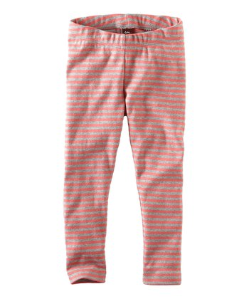 Pink Lemonade Skinny Stripe Leggings - Infant, Toddler & Girls