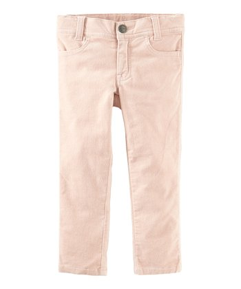 Pink Sand Skinny Corduroy Pants - Infant, Toddler & Girls