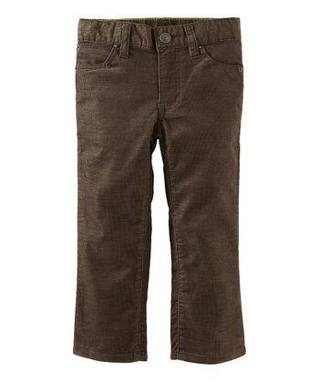 Dark Moss Awesome Corduroy Pants - Infant, Toddler & Boys