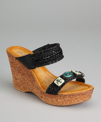 Black Mayasa-07 Wedge Sandal