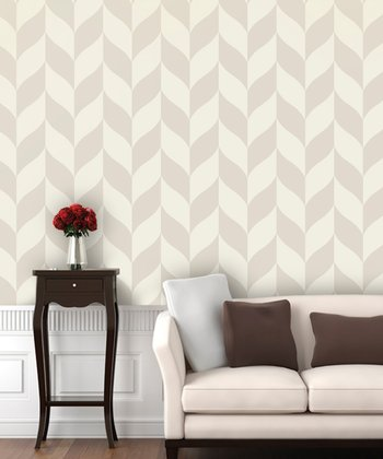 Plastered Classic Chevron Wallpaper Decal