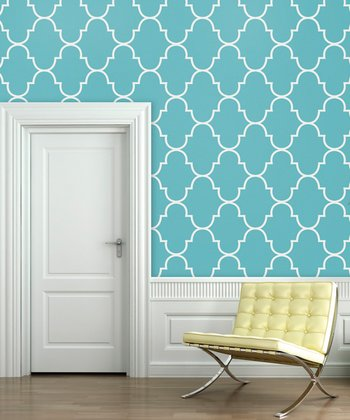 Tiffany Blue Classic Trellis Wallpaper Decal