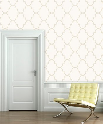 White Sand Classic Trellis Wallpaper Decal