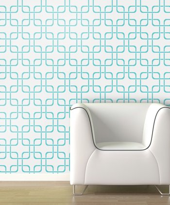 Aqua Cubix Wallpaper Decal