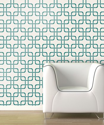 Emerald Cubix Wallpaper Decal