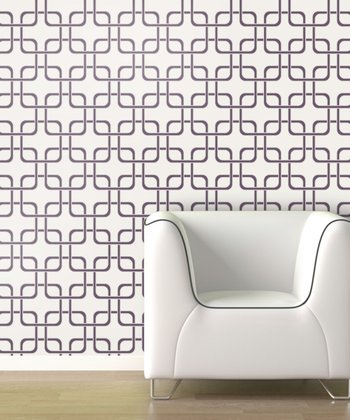 Mauve Cubix Wallpaper Decal