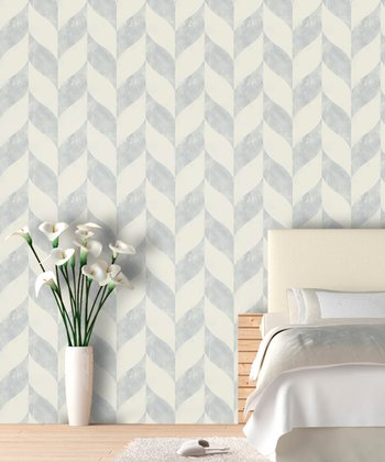 Something Blue Distressed Chevron Wallpaper Decal