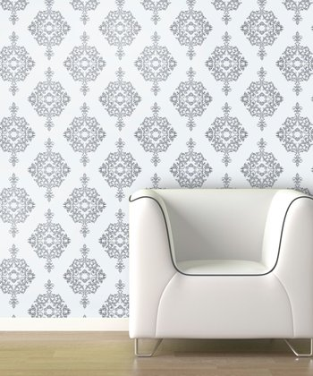 Angel Wings Diamond Damask Wallpaper Decal
