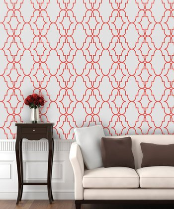 Bulls Eye Double Trellis Wallpaper Decal