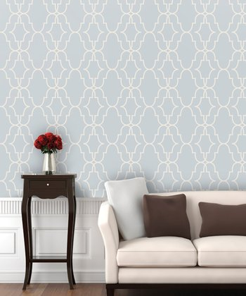 Rain Delay Double Trellis Wallpaper Decal