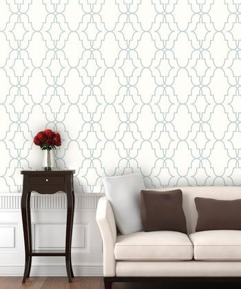 Snowflake Double Trellis Wallpaper Decal