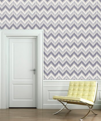 Lilac Tile Zigzag Wallpaper Decal