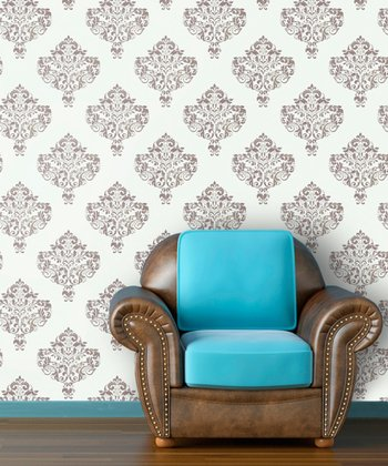 Hint of Mint Moroccan Wallpaper Decal