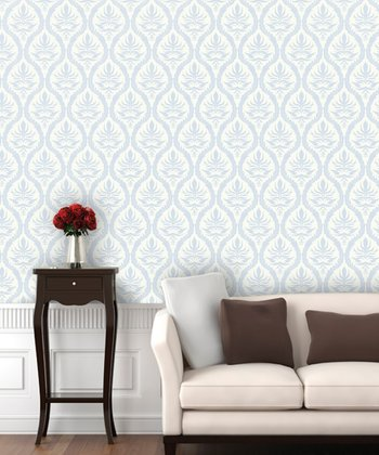 Mirror Mirror Outline Damask Wallpaper Decal