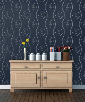 Overboard Anchors Away Wallpaper Decal