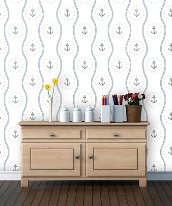 Sail Anchors Away Wallpaper Decal