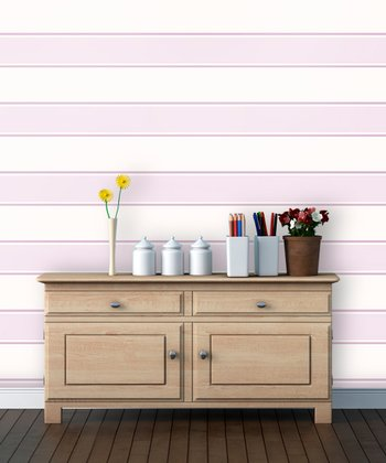 Pom-Pom Stripe Wallpaper Decal