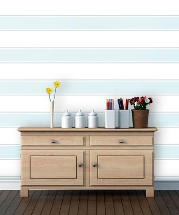 Varsity Blues Stripe Wallpaper Decal
