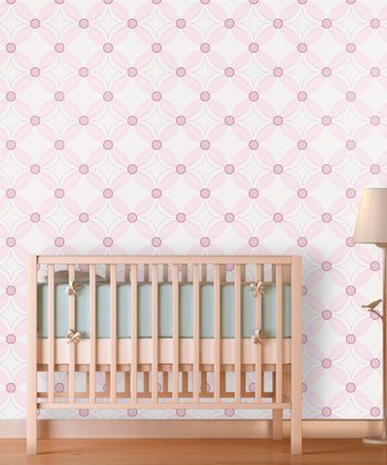 It's a Girl Tufted Quilt Wallpaper Decal
