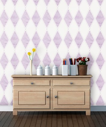 Lilac Watercolor Wallpaper Decal