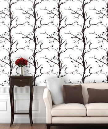 Ash White Tree Wallpaper Decal
