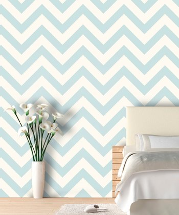 Robins Egg Zigzag Wallpaper Decal