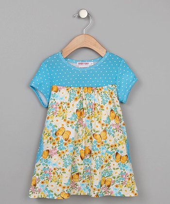 Baby Nay - Vintage Butterfly Swing Dress with Pocket