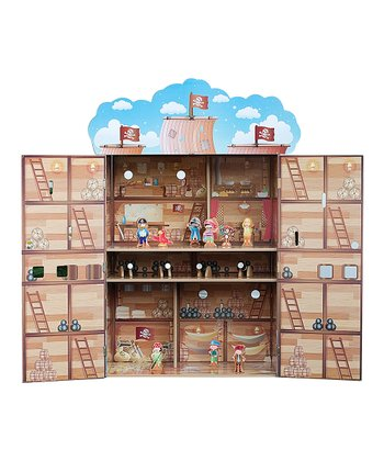 Pirate Ship Dollhouse Set
