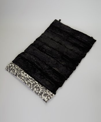 Black Floral Roll-Away Pet Bed
