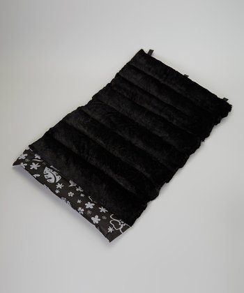 Black Flower Roll-Away Pet Bed