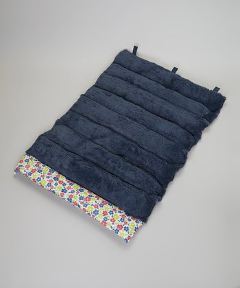 Blue & Pink Flower Roll-Away Pet Bed