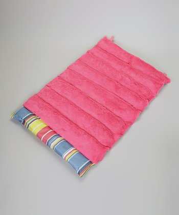 Pink & Blue Stripe Roll-Away Pet Bed