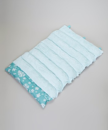 Teal Flower Roll-Away Pet Bed
