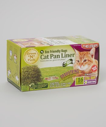 Eco-Friendly Drawstring Cat Pan Liner - Set of 16