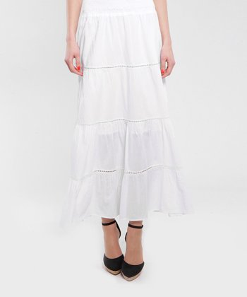 White Gisel Maxi Skirt - Women