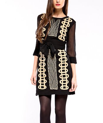 Black Chess Dress - Women