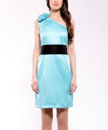 Turquoise Asymmetrical Dress
