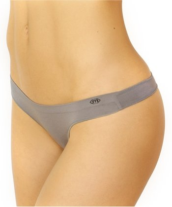 Gray Sol Low-Rise Thong