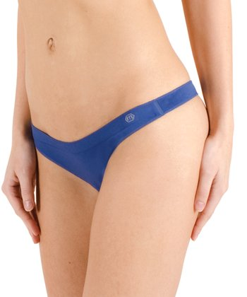 Royal Blue Sol Low-Rise Thong