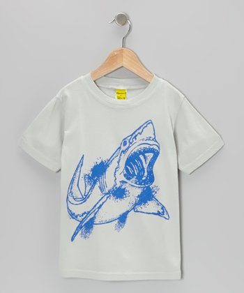 Gray Shark Tee - Toddler & Boys