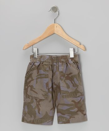 Cement Camouflage Shorts - Toddler & Boys