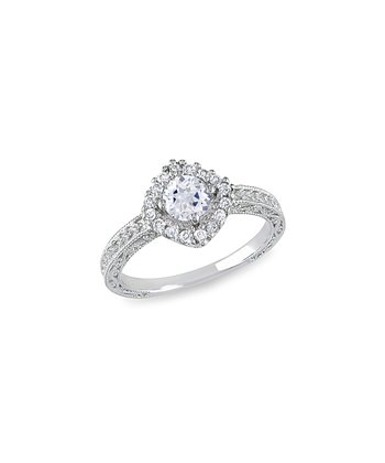 Sterling Silver & Diamond Ring