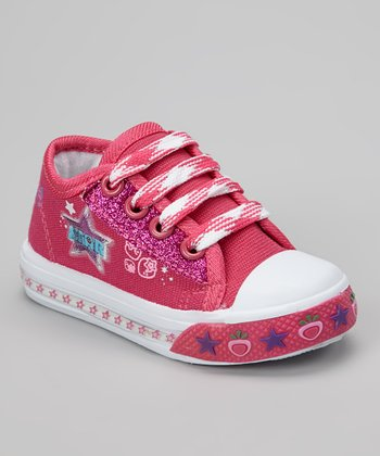 Fuchsia 'Star' Light-Up Sneaker