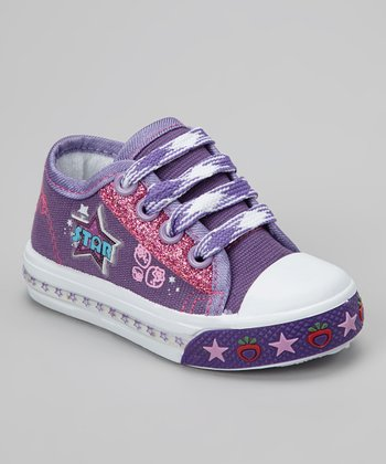 Purple 'Star' Light-Up Sneaker