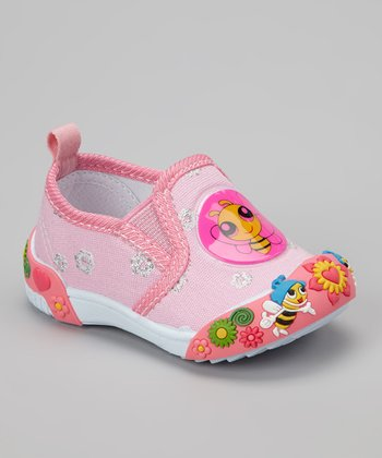 Pink Bee Slip-On Shoe