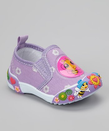 Purple Bee Slip-On Shoe