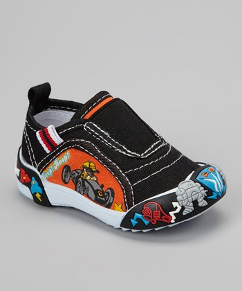 Black Go-Cart Slip-On Shoe