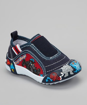 Navy Go-Cart Slip-On Shoe